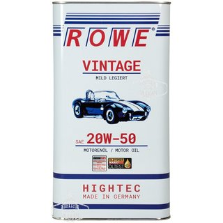 5 LITER ROWE MOTORÖL HIGHTEC VINTAGE SAE 20W-50 MILD LEGIERT - MADE IN GERMANY