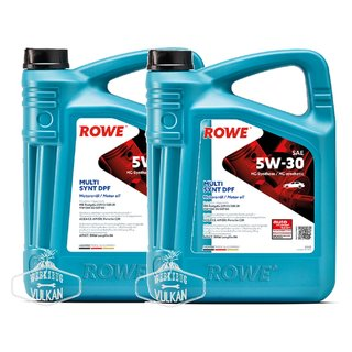 10 LITER (2x5L) ROWE MOTORÖL HIGHTEC MULTI SYNT DPF SAE 5W-30 LONGLIFE III - MADE IN GERMANY