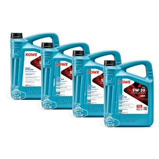 20 LITER (4x5L) ROWE MOTORÖL HIGHTEC MULTI SYNT DPF SAE 5W-30 LONGLIFE III - MADE IN GERMANY