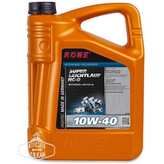 7 LITER (5+2 L) ROWE MOTORÖL HIGHTEC SUPER LEICHTLAUF HC-O SAE 10W-40 - MADE IN GERMANY